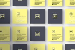 Square Executive Business Card - BC061 Product Image 2