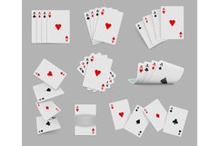 Four aces playing cards set Product Image 1