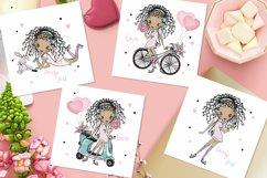 Cute Teen Girls 2, Digital Clipart, Fashion Girls, Valentine Product Image 2