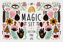 Vector Magic Witchcraft Elements Set Product Image 1