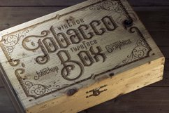 Tobacco Box Font, Mockups, Template! Product Image 1