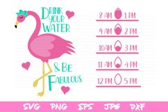 water bottle svg, drink your water, silhouette, sublimation Product Image 2