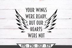 Memorial With Wings Your Wings Were Ready SVG Product Image 2