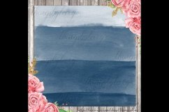 30 Ombre Sapphire & Flamingo Watercolor Digital Papers Product Image 2