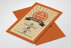 Retro Vintage Business Card  Product Image 1