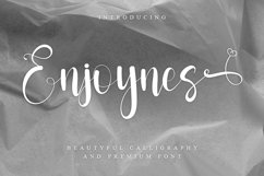 Enjoynes - Beautiful Calligraphy Font Product Image 1