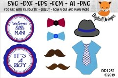 Baby Shower Photo Booth Props / Centerpiece SVG Product Image 1