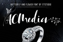 Acmedia Butterflies and Flowers Font Product Image 1