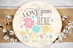 Farmhouse Spring SVG Round Svg Sign Bundle, 6 svg cut files Product Image 5