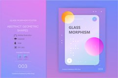 Glassmorphism abstract poster #003 Product Image 1