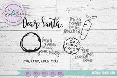 Dear Santa Cookies for Santa Tray SVG Product Image 2