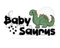 Baby Saurus -svg,dxf,png,jpg, Instant Digital Download Product Image 2