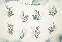 Watercolor & Gold Leaf Branch Product Image 3