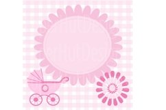 Baby Girl Clipart and Digital Papers Set Product Image 4