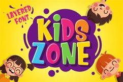 Kids Zone // Layered Font Product Image 1