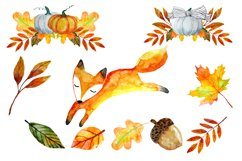 Autumn Clipart Watercolor Product Image 3