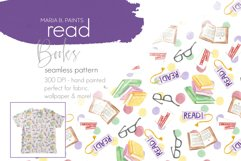 Read Books! Seamless Pattern Design for Fabric Sublimation Product Image 1