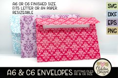 A6 & C6 Envelope SVG - Envelope Cutting File Template Product Image 4