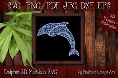 3D SVG Mandala Dolphin 4 Layers Cutting File Sublimation Product Image 1