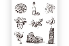 Hand drawn set of Italy Product Image 1