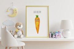 Cute vegetables clipart. Digital paper set Product Image 5
