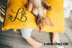 Web Font Hearts With Monogram Font - A-Z Letters Product Image 5