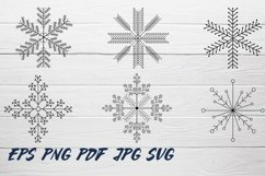 Snowflake SVG and Christmas frames SVG collection Product Image 4