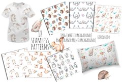 Cute forest Animals. Patterns + Wreaths Product Image 4