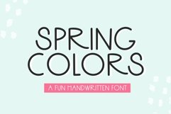 Web Font Spring Colors - A Fun Handwritten Font Product Image 1