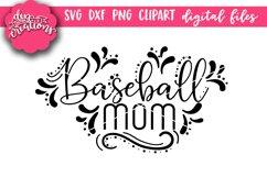 Baseball Mom - SVG DXF PNG digital Cut Files Product Image 1