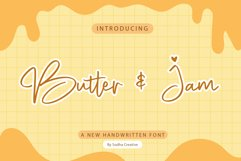 Butter & Jam - Handwritten Font Product Image 1