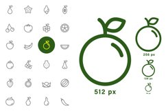 Fruits icons set Product Image 3