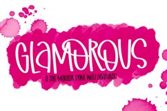 Glamorous - A Wild Clean & Tall Marker Font Product Image 1