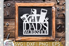 Dad's Workshop SVG DXF PNG EPS Cutting Files Product Image 1