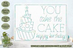 Foil Quill Birthday Card - You Take the Cake / Single Line Product Image 1