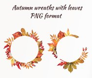 Watercolor autumn leaves, clipart Product Image 4