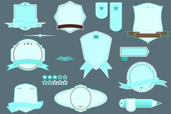 low priced starter pack retro banner ribbons frames pack  Product Image 1
