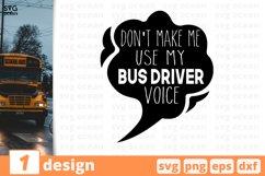 SCHOOL BUS DRIVER SVG BUNDLE   Back to school cricut   Quote Product Image 1
