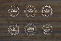 24 Vintage Circle Badges Product Image 3
