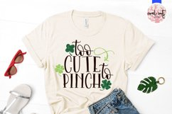 Too cute to pinch - St. Patrick's Day SVG EPS DXF PNG Product Image 2