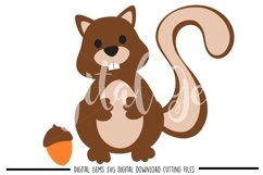 Squirrel SVG / EPS / DXF files Product Image 1