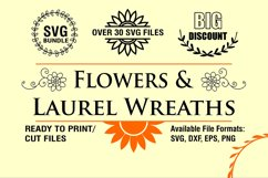 Flowers and Laurel Wreaths SVG Bundle Product Image 2