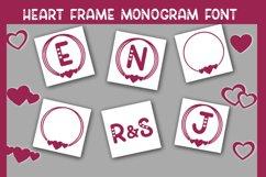Heart Frame Monogram Font Product Image 5
