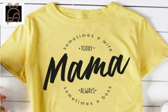 Leopard Mama - Sometimes a Wife or a Boss SVG DXF EPS PNG Product Image 3