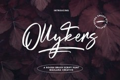 Ollykers Brush Script Font Product Image 1