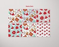 Xmas Vector Seamless Patterns Product Image 4