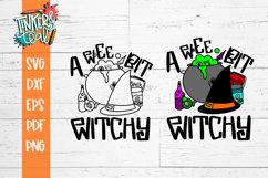 Wee bit Witchy Funny Halloween SVG Cut File Product Image 2