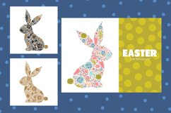 Cute floral Easter bunny. Product Image 3