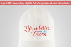 Life Is Better On the Ocean SVG DXF FCM LL036C Product Image 3