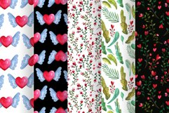 Love forest watercolor set with patterns, cards, wreaths Product Image 3
